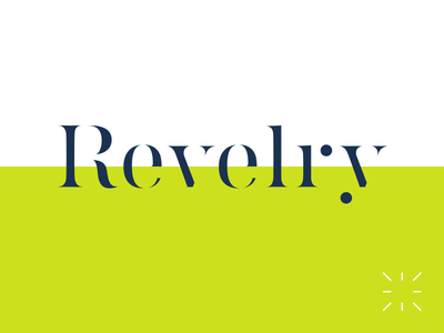 Revelry stencil celebrations event planning branding identity