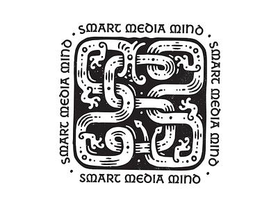 SMM деодамус деос illustration id sign branding logo logotype deodamus deos