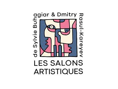 Les Salons Artistiques sign деос деодамус лого typography lettering logotype deodamus logo deos