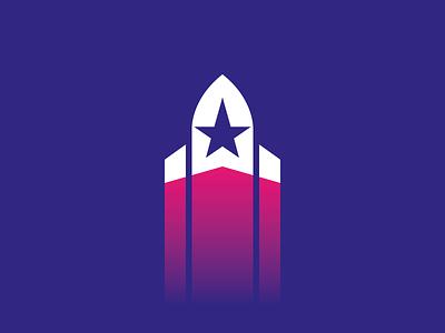 ROCKET STARS branding typography lettering logotype deodamus logo deos