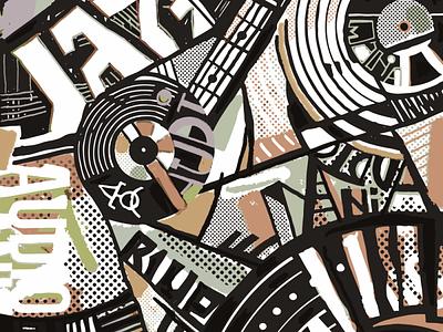 винил абстракционизмъ design illustration calligraphy typography lettering deodamus deos