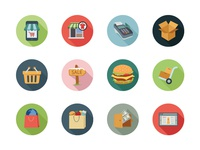 100+ Shopping Colored Vector Icons