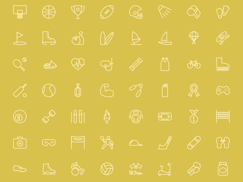 200 Sports Line Icons sports games line outline stroke icons sports icons vectors illustrations