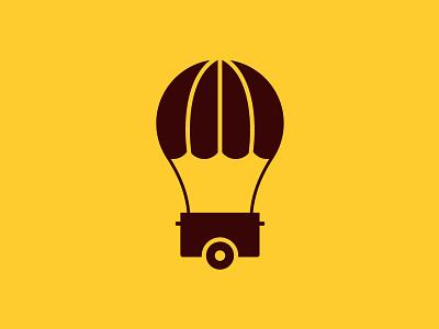Creative Stall Logo Design trolly bulb idea parachute balloon stall creative stall design logo