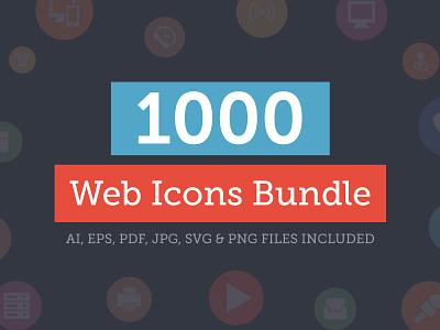 1000+ Universal Web Icons Bundle solid icons glyphs colored icons web icon set web icons set universal web icons