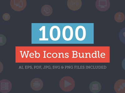 1000+ Universal Web Icons Bundle