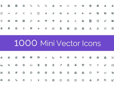 Mini Icons - Glyphs