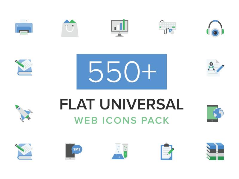 550+ Flat Universal Web Icons Pack web design icon web vector icons flat web icons set of web icons web design icons web icons universal icons flat icons