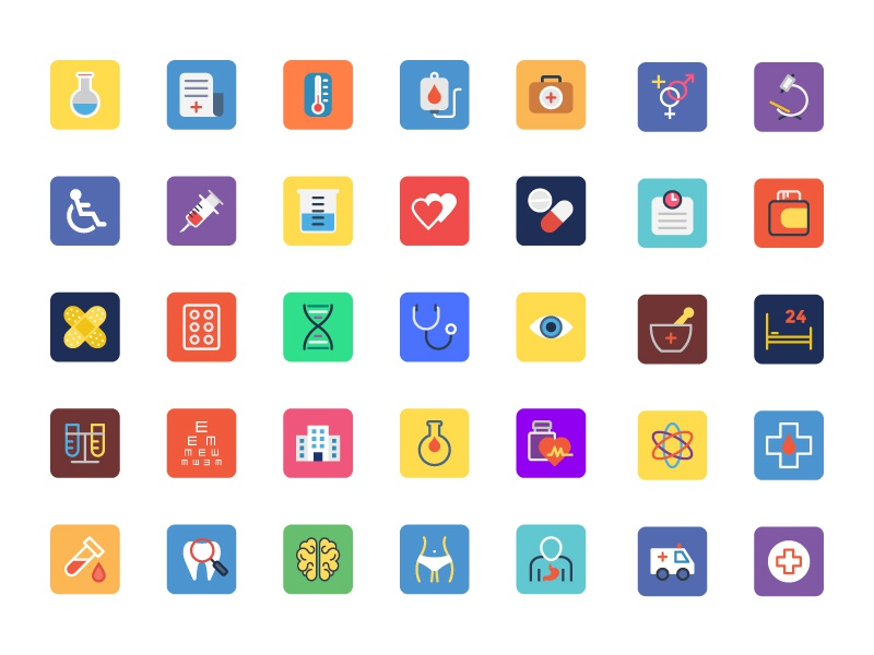 Medical App Icons medical icons set flat icons launcher icons ios icons app icons healthcare medical