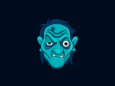 Angry Man Avatar Illustration Design facial expressions artwork zombie halloween avatar face illustration illustration design character illustration character design angry man