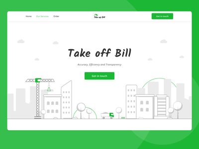 Take off Bill illustraion building bills construction logotype logo landing webdesign website desktop ui ux  ui ux