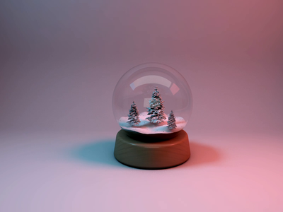 Snow Globe design concept snowglobe winter snow cartoon video animation illustraion cinema 4d 4d 3d