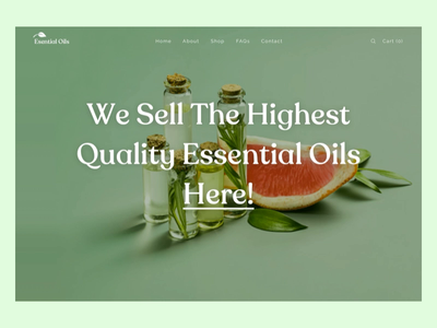 Essential Oil Shop principle scroll animation eccomerce store essential oil shop logo webdesign website desktop dailyui ux ui concept