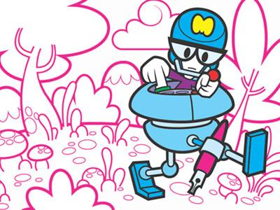 Tarjet illustration comic children mondotrendy cartoon