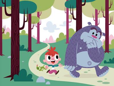 Nene y monstruo illustration comic children mondotrendy cartoon