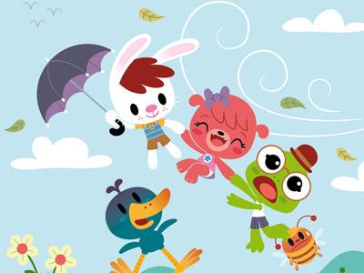 Dribble Paraguas illustration comic children mondotrendy cartoon
