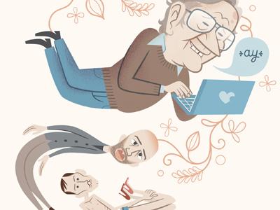 Dribble Chomsky illustration comic mondotrendy cartoon magazine chomsky