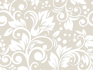 Floral seamless pattern with decoratrive elements