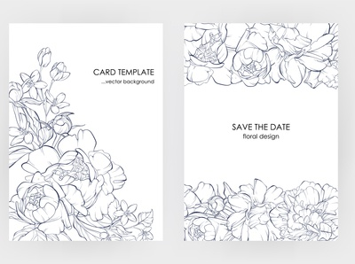 Botanical  invitation card template design