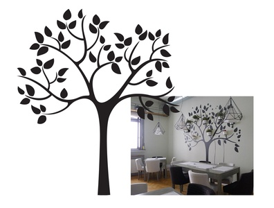 Vector tree for home decor