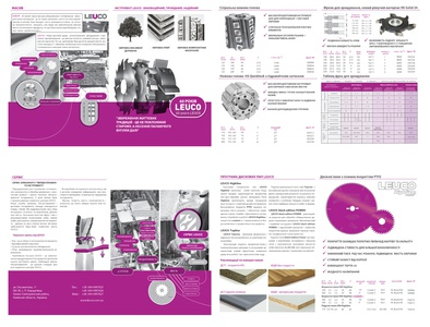 Brochures, on the basis of corporate identity