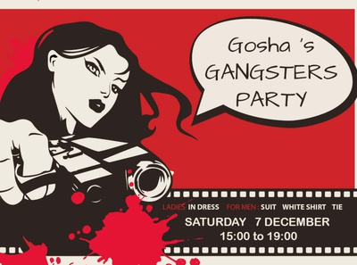 Flayer for gangsters party
