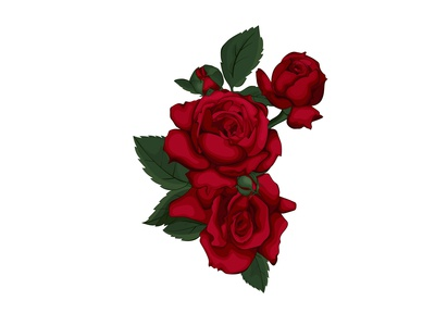 Be my valentine with red roses.