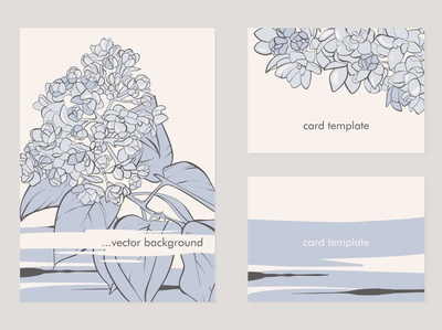 Card temlate with lilac flowers.