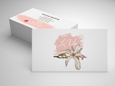 Card for beauty salon