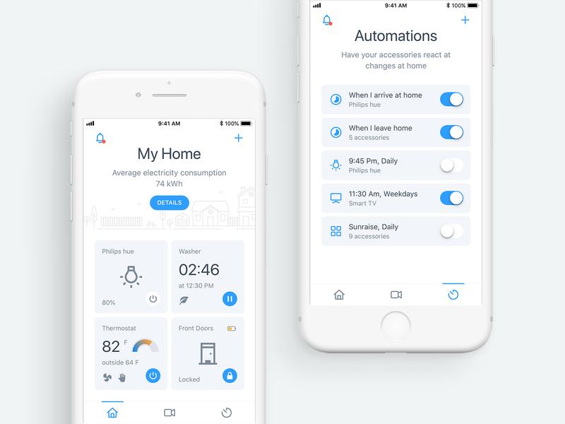 Smart Home illustartion house smart home iot design ux app ios ui mobile