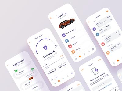 P Drive plans automotive bright maintenance insurance dashboard remote inspection service vehicle clean mobile app ux ui ios
