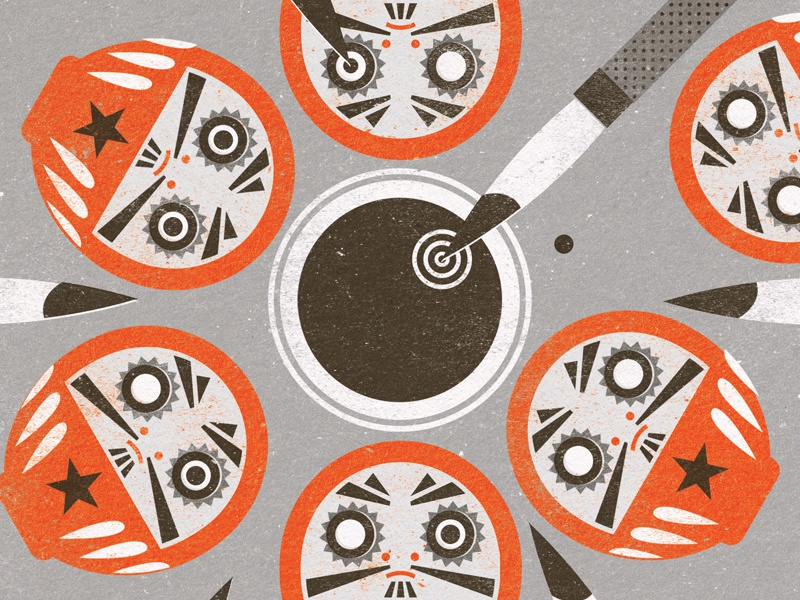 Significant Figures - Daruma japan illustration design daruma doll dolls japanese