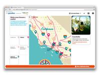 The Guardian/Visit California - Interactive Maps