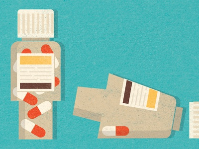 Nature - Inequality in Medicine (Women's Health) pills bottles illustration magazine editorial medical medicine science female health women