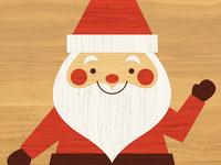 Crafty Santa (Inlaid Wood)
