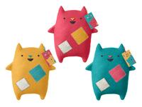 Oddcats! Soft Toys Mockup