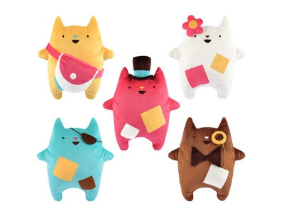 Oddcats! Plush Toys kawaii cute gift kids licensing brand oddcats cuddly plushie toy design toys plush character design design illustration