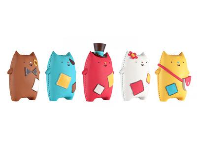 Oddcats! 3D Sculptures licensing brand illustration cats animation design character design kawaii cute kids oddcats 3d sculpting 3d printed 3d design animation toy design toys design