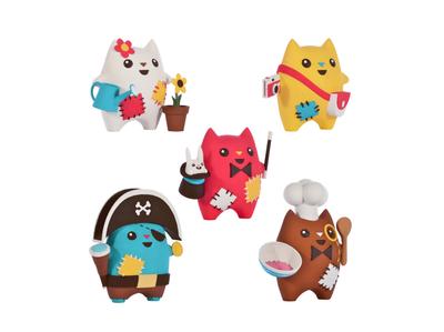 Oddcats! 3D Sculptures - Kawaii Edition