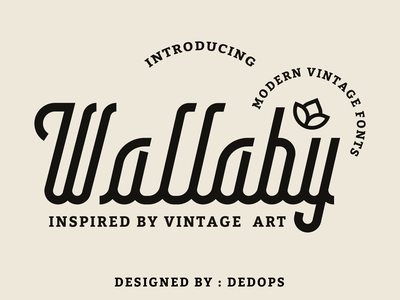 Wallaby fonts vintage design typographic brand design vector typogaphy letter branding design typography lettering illustration