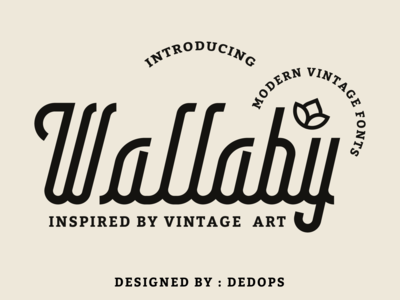 Wallaby fonts