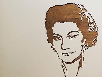 Coco Chanel // paper cut paperart handcut portrait paper cutting paper cut paper art paper