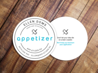 Beer coaster business card