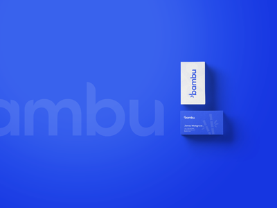 Bambu - Logo Branding inspiration 2020 free mockup branding cards design logo business card