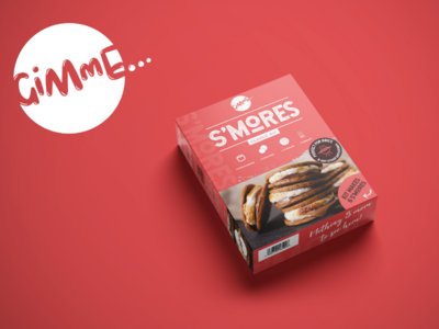 S'mores Kit by Gimme logos design packaging-design logo-design 2020 food mockup logo smores packaging