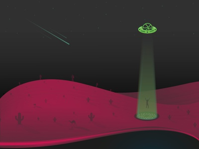 The Chosen One camels cactus hills chosen desert illustration drafted new debut invite gradient aliens