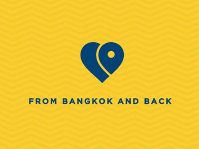 From Bangkok and Back blog travel work in progress location wip minimal modern simple uk heart logo love heart bangkok bangkok logo logo