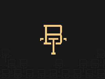 Bahn Thai Logo block eastern thai bahn bar t bt logo restaurant b design logo gold black