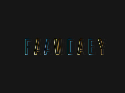 FADE AWAY TYPE blue yellow illusion colour style font type typography illustrator transparency fade