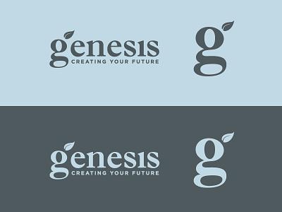 Finance Management Logo Reject blue leaf type genesis g vector wealth money finance design logo reject